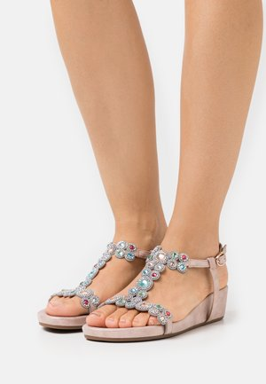 Wedge sandals - lisboa rose