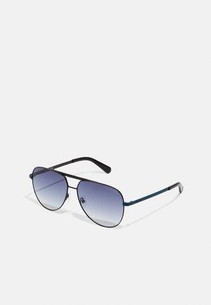 UNISEX - Sunglasses - schwarz matt/blau