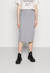 Even&Odd - 2 PACK - Pencil skirt - black/mottled grey - 3