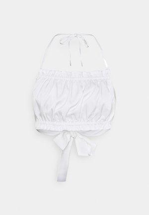 TIE BACK CROP - Top - white
