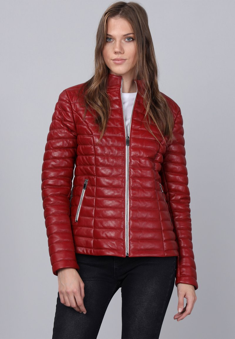 Basics and More - Leather jacket - red