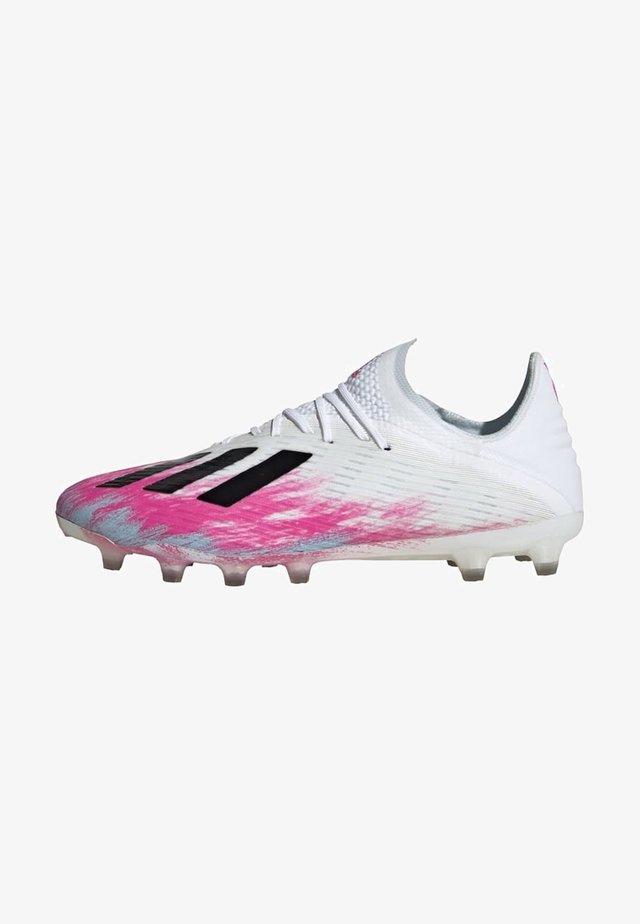 ARTIFICIAL GRASS BOOTS - Fotbollsskor fasta dobbar - white