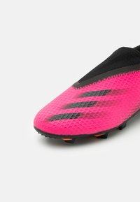 adidas Performance - X GHOSTED.3 LL FG UNISEX - Moulded stud football boots - shock pink/core black - 5