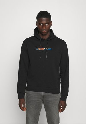 HOODED WITH CHEST ARTWORK - Sweatshirt - black