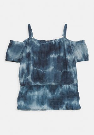 SMOCKED WAIST - Top - blue