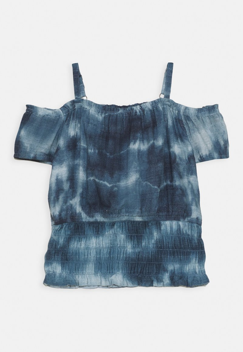 Abercrombie & Fitch - SMOCKED WAIST - Top - blue