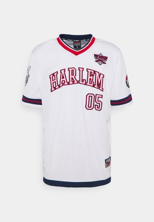 ATHLETICS HARLEM - Camiseta estampada - white