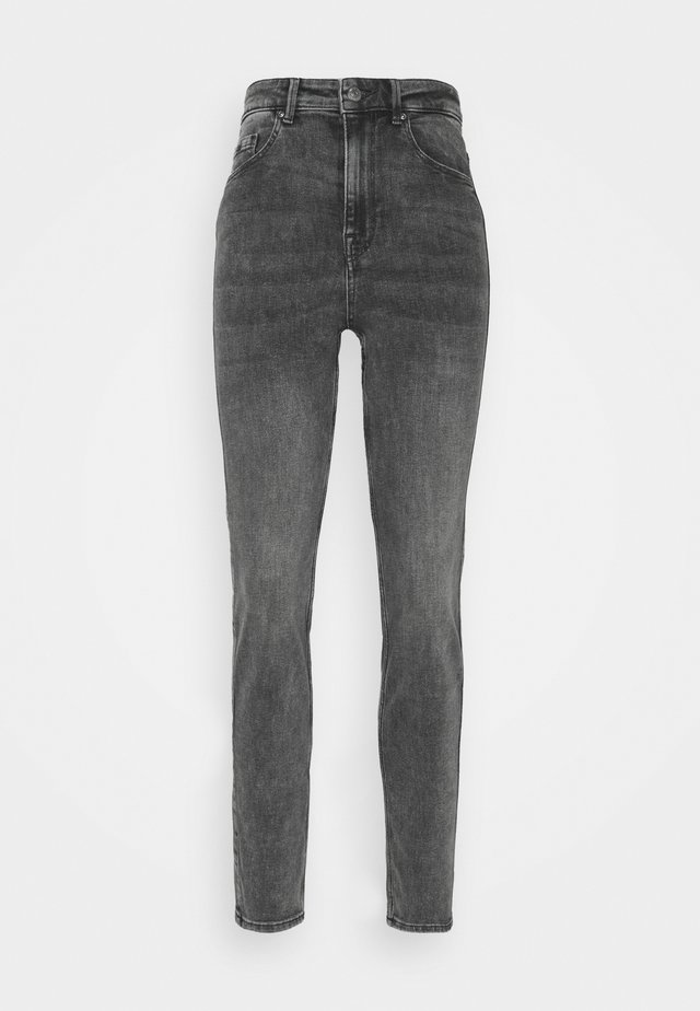 PCLILI HIGH WAIST - Jeansy Slim Fit - medium grey denim