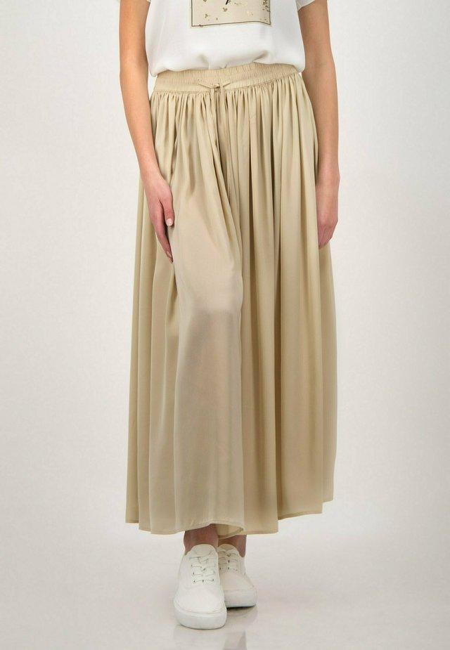 Maxi skirt - oyster beige