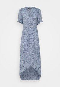 Missguided Tall - HIGH LOW DRESS FLORAL - Maxi dress - blue - 0