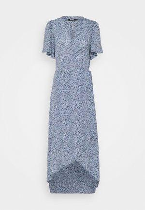 HIGH LOW DRESS FLORAL - Maxi dress - blue
