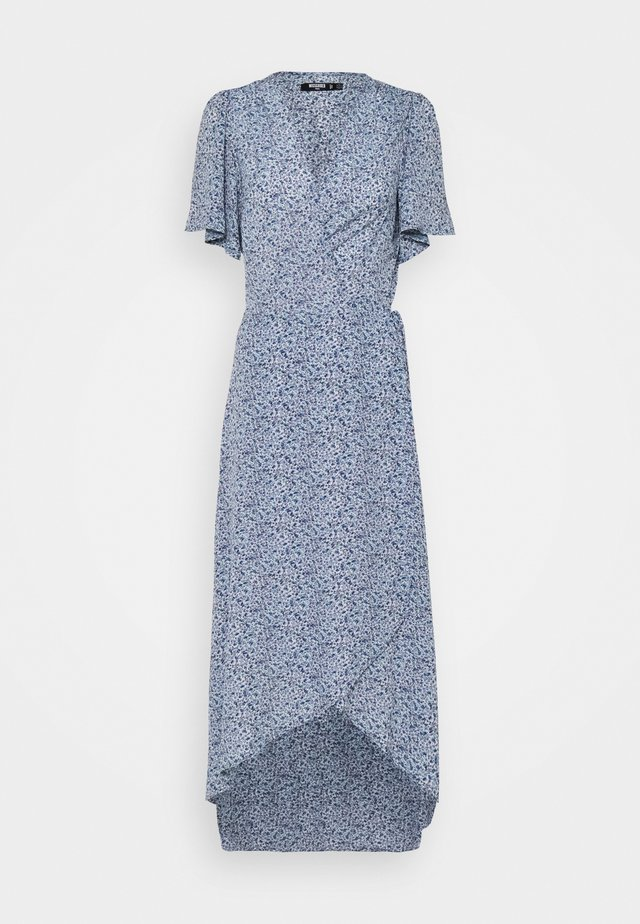 HIGH LOW DRESS FLORAL - Robe longue - blue