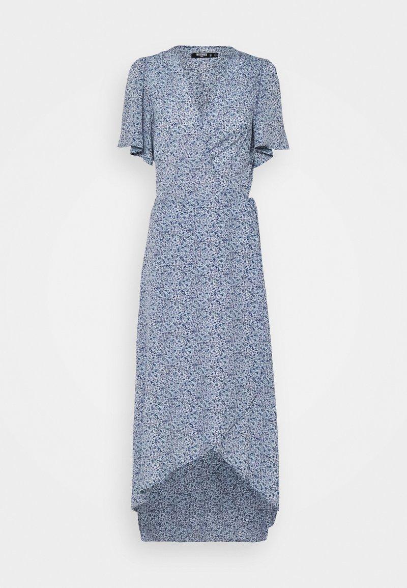 Missguided Tall - HIGH LOW DRESS FLORAL - Maxi dress - blue