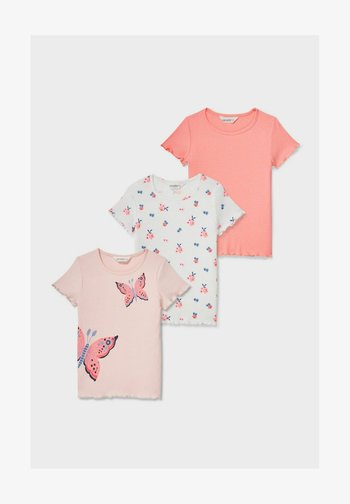 3 PACK - Print T-shirt - rose