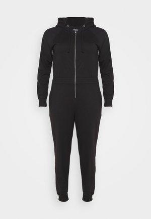 HOODED  - Jumpsuit - black
