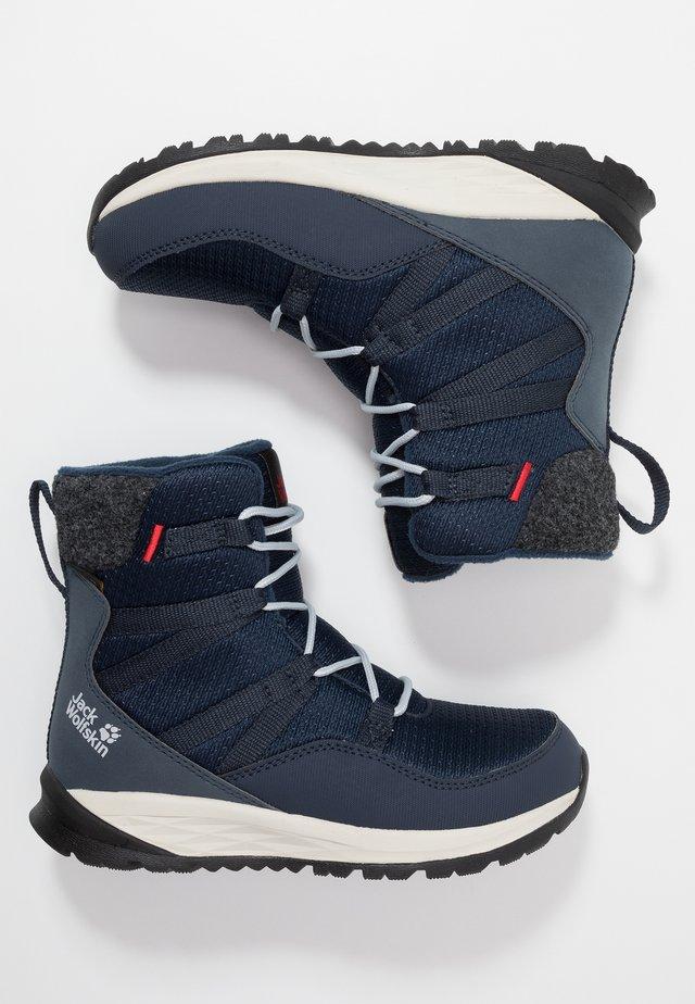 POLAR BEAR TEXAPORE HIGH - Winter boots - dark blue/offwhite