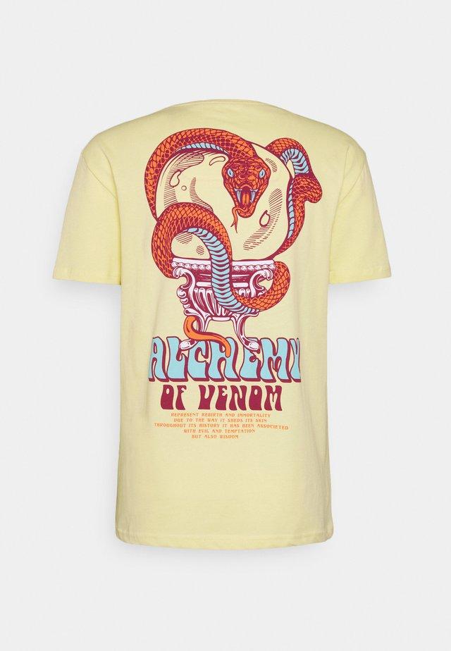 UNISEX - T-shirt imprimé - yellow