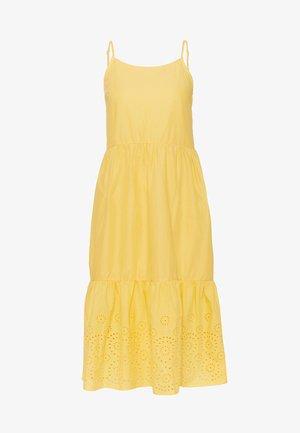 VMHALO SINGLET CALF DRESS - Kjole - banana cream