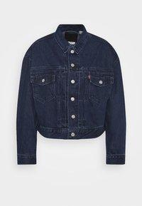 NEW HERITAGE TRUCKER - Denim jacket - dark blue denim