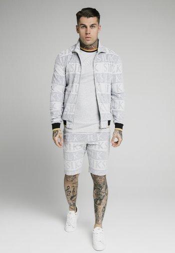 Bomber Jacket - grey/black/gold