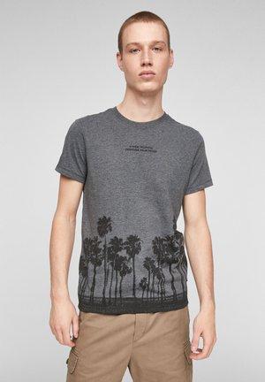 Print T-shirt - black placed print