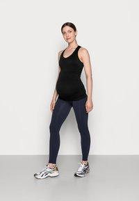 MAMALICIOUS - MLTIA JEANNE - Leggings - navy blazer - 1