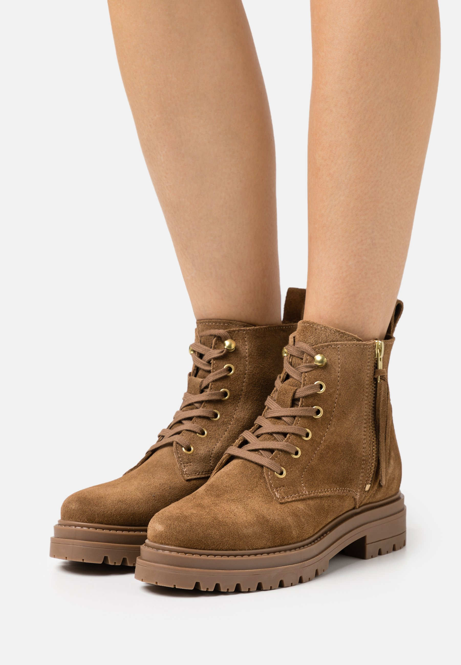 Women MELINA  - Lace-up ankle boots - tan