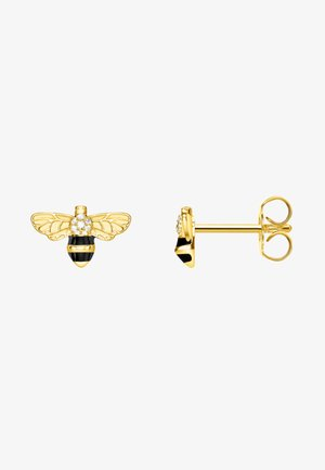 BIENE - Earrings - gold/schwarz