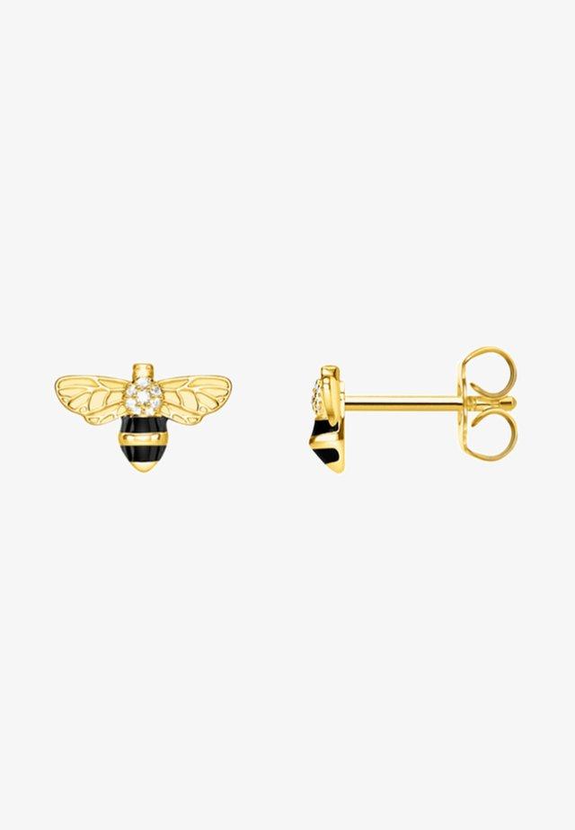 BIENE - Oorbellen - gold/schwarz