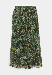 Marc O'Polo PURE - MIDI SKIRT - A-line skirt - green - 1