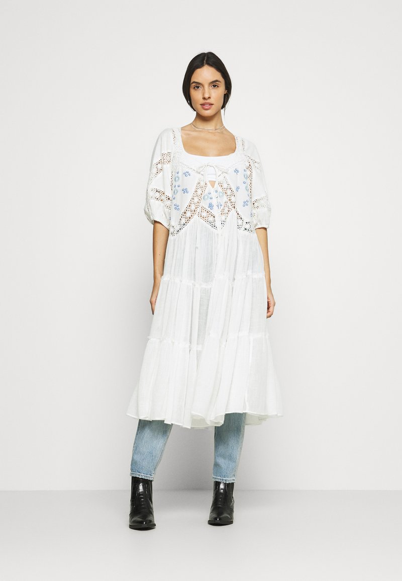 Free People - DELILAH EMBROIDERED MAXI - Bluser - ivory combo
