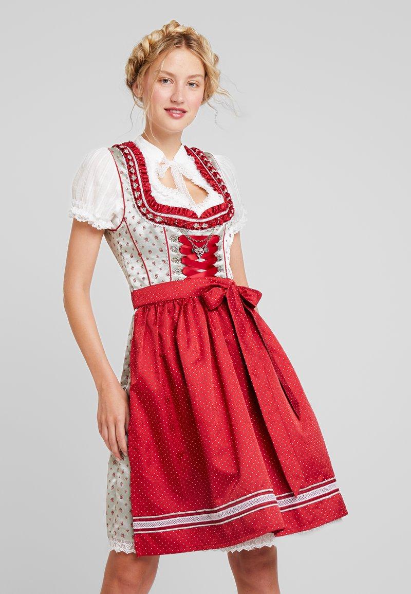 Marjo - NETTA - Oktoberfestklær - grau/rot