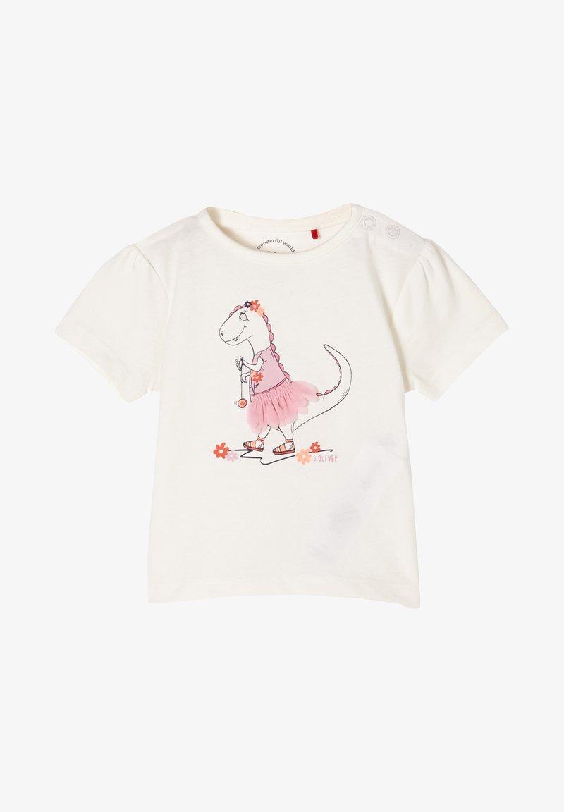 s.Oliver - Print T-shirt - ecru