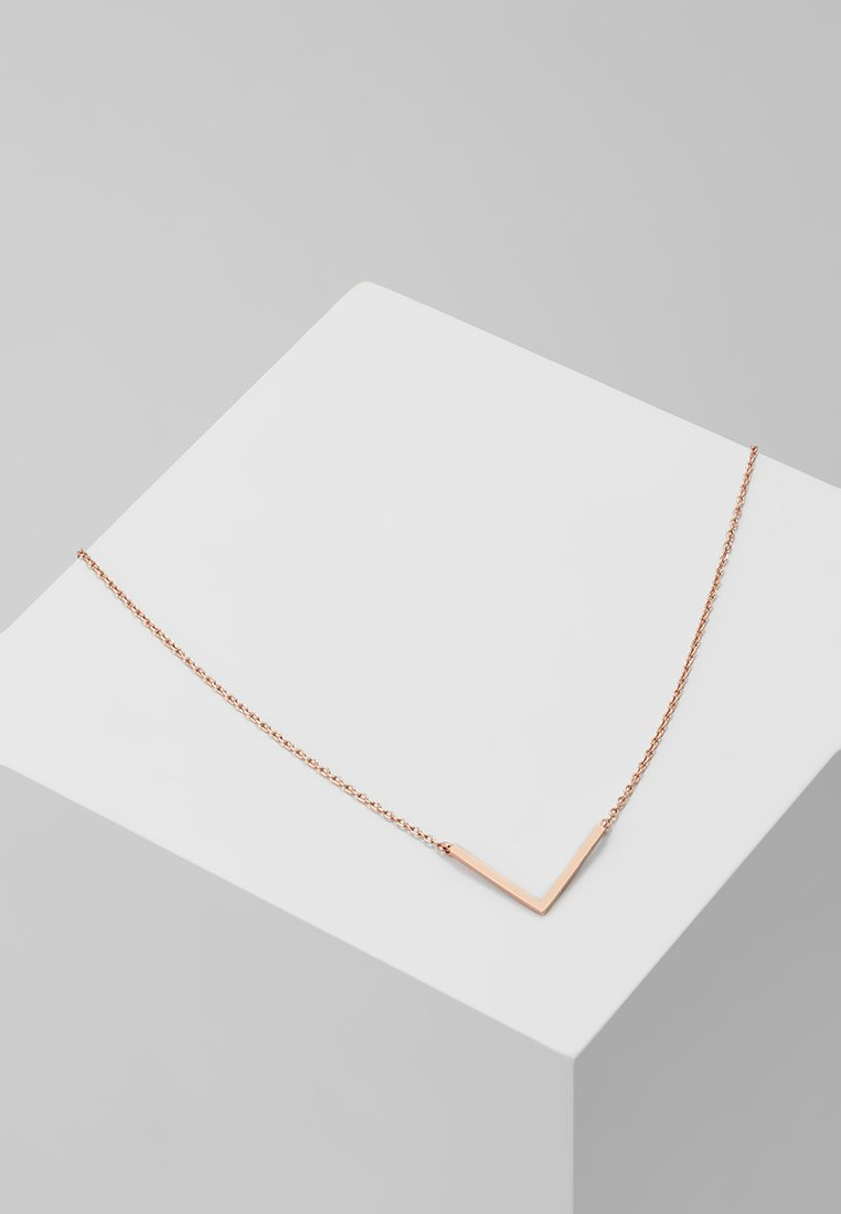 Orelia - CLEAN V NECKLACE - Náhrdelník - rose gold-coloured