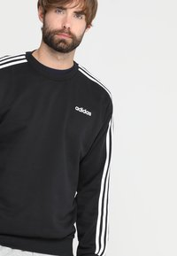 adidas Performance - Essentials 3-Stripes Sweatshirt - Mikina - black/white - 4