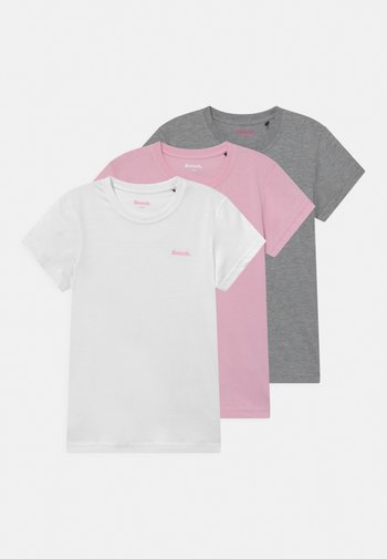 ARIANDE 3 PACK - T-shirt basique - white/pink/grey marl