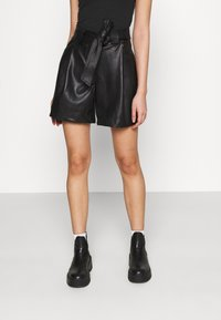 Miss Selfridge - TIE WAIST - Shorts - black - 0