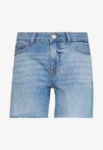 NMBE LINE - Denim shorts - medium blue denim