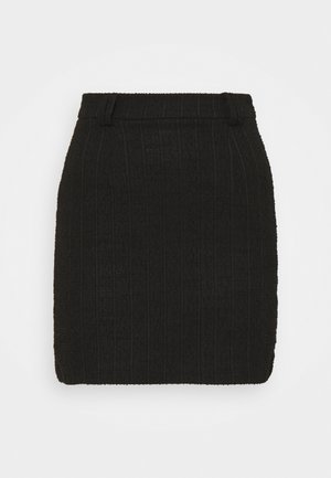 mini skirt with belt loop - Pencil skirt - black