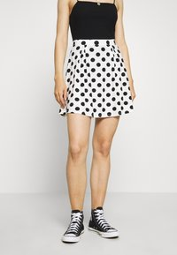 Even&Odd - A-line skirt - off-white/black - 0