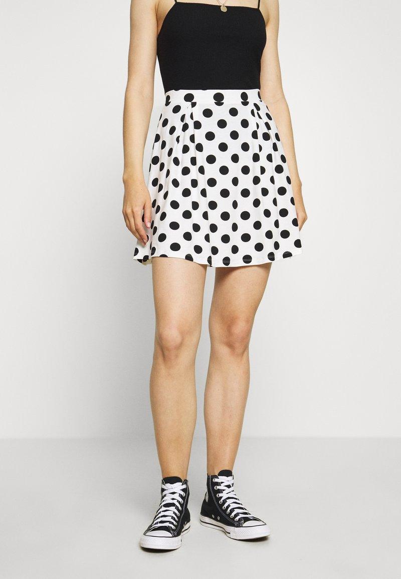 Even&Odd - A-line skirt - off-white/black