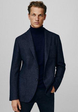 SLIM-FIT- AUS WOLLE MIT STRUKTURMUSTER 02010404 - Suit jacket - dark blue