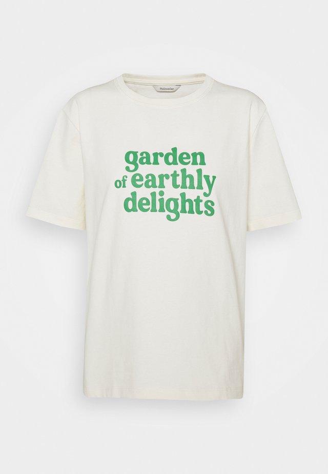 KJERAG TEE  - T-shirt con stampa - ecru