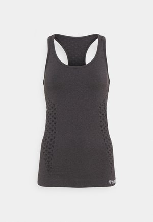 SEAMLESS - Sports shirt - black melange