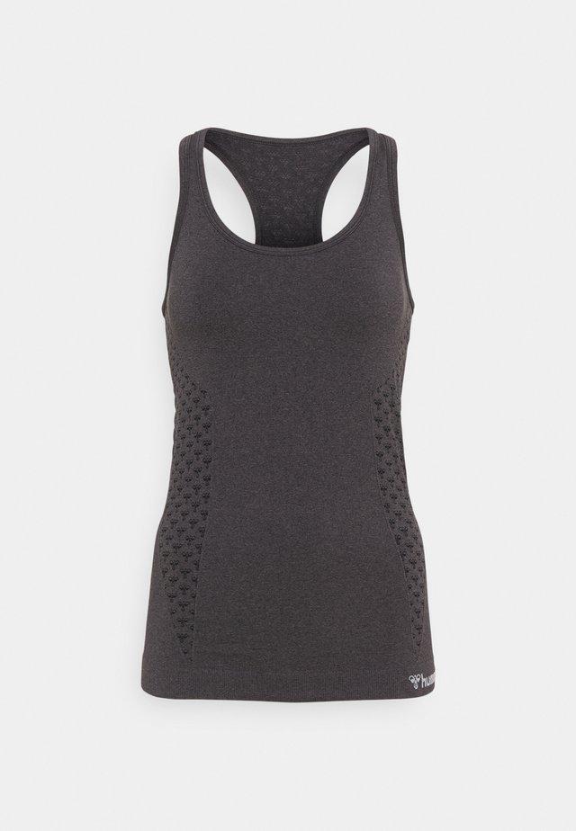 SEAMLESS - Sports shirt - black melange