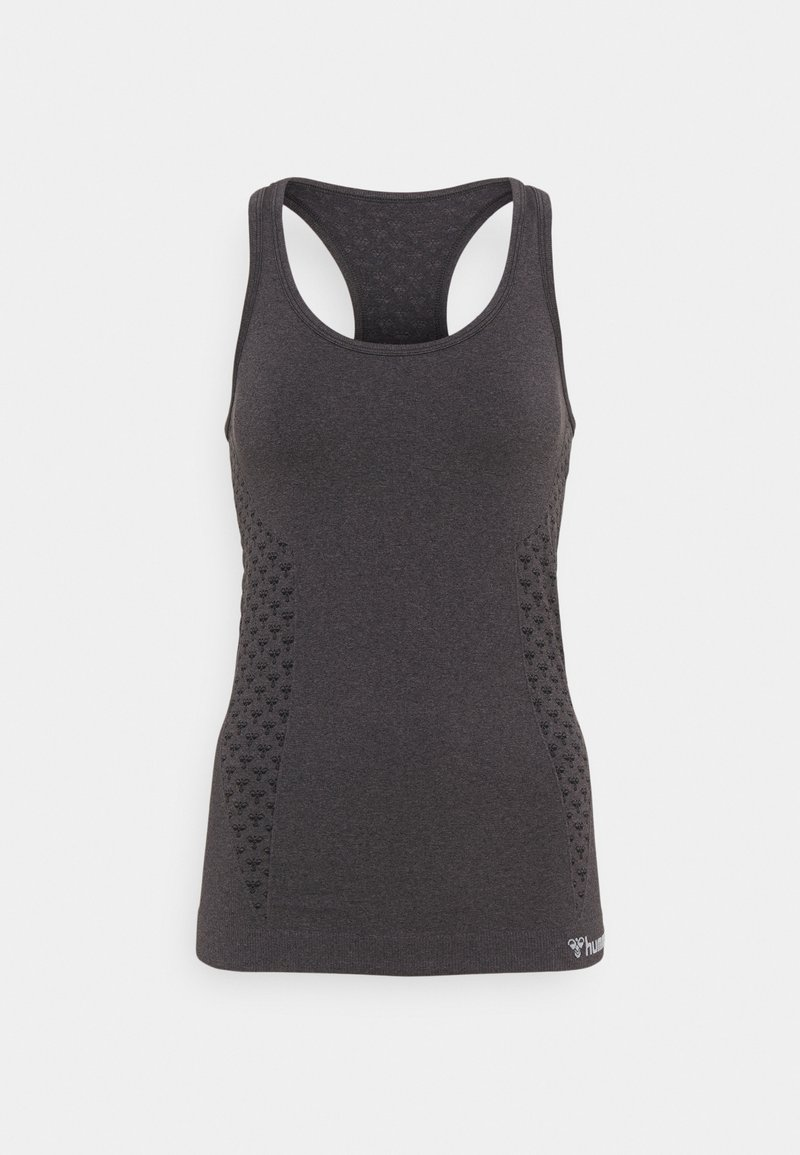 Hummel - SEAMLESS - Camiseta de deporte - black melange