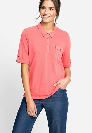 MIT BRUSTTASCHE - Polo shirt - koralle