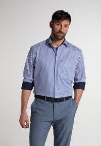 Eterna - COMFORT FIT - Shirt - blau/weiß - 0