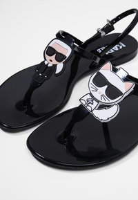 KARL LAGERFELD - JELLY IKONIC SLING - Pool shoes - black - 2