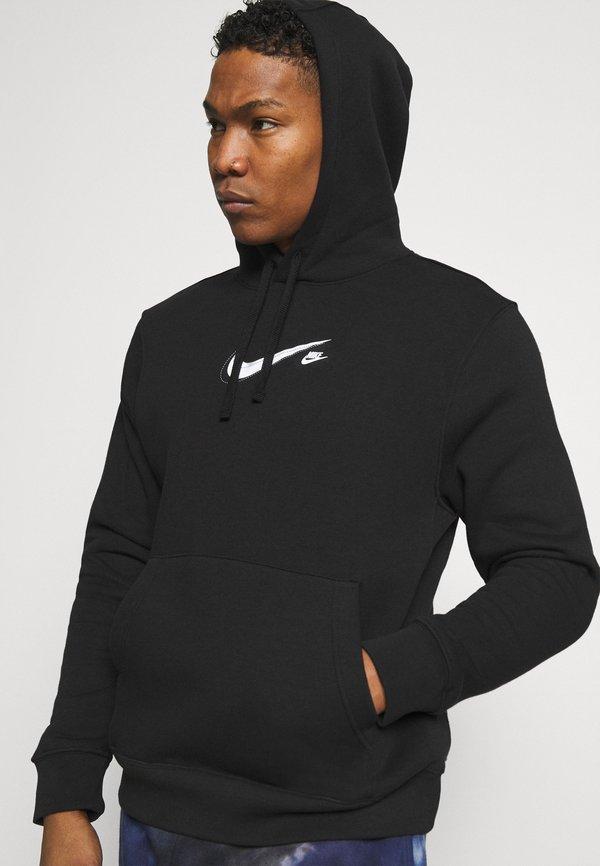 Nike Sportswear COURT HOODIE - Bluza - black/czarny Odzież Męska KMLU